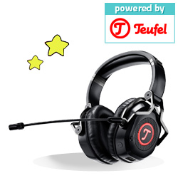 2x Teufel Cage Gaming-Headset  with integrated USB sound card each worth € 170