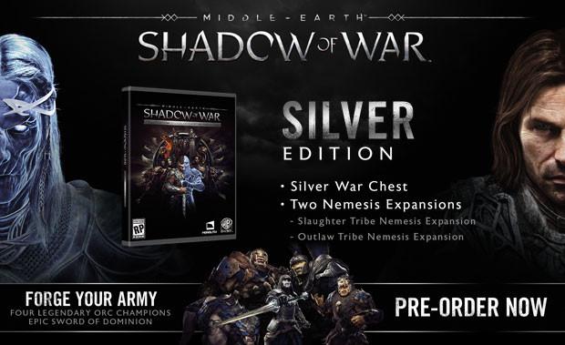 La Tierra Media: Sombras de Guerra edición Silver