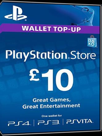 Buy Playstation Network Card 10 Pound, PSN Card 10 £ UK