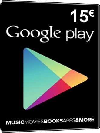 Google Play Card 15 Euro