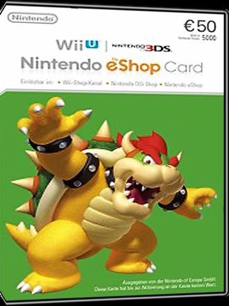 Buy Nintendo Eshop Card 50 Euro Nshop 50 Mmoga