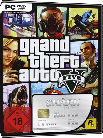 Grand Theft Auto V + GTA Online Great White Shark Cash Card (1 25 million $)
