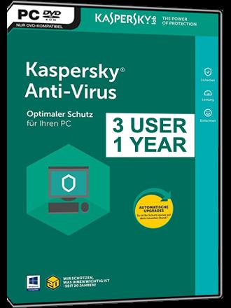 Buy Kaspersky Anti-Virus 2018, KAV 3U1Y Key - MMOGA