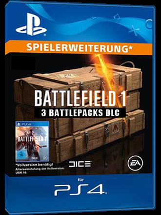 Battlefield 1 [PS4] - 3 Battlepacks Download Code - Germany