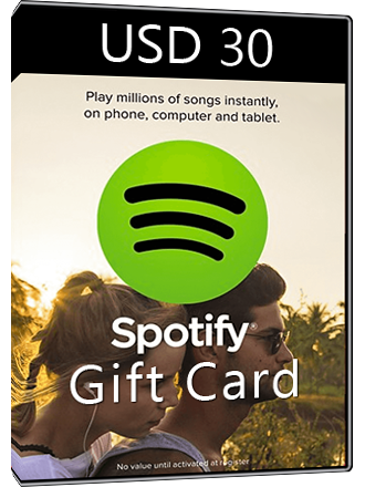 Spotify Gift Card USD 30 Screenshot
