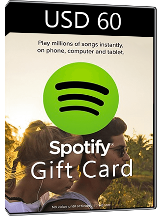 Spotify Gift Card USD 60 Screenshot