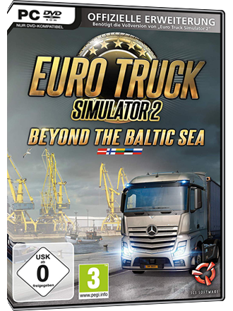 buy euro truck simulator 2 beyond the baltic sea mmoga. Black Bedroom Furniture Sets. Home Design Ideas