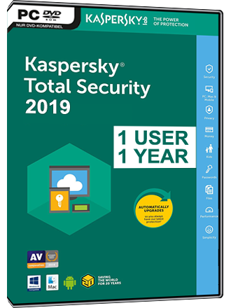 Kaspersky Anti-Virus 2019 (1 User / 1 Year)