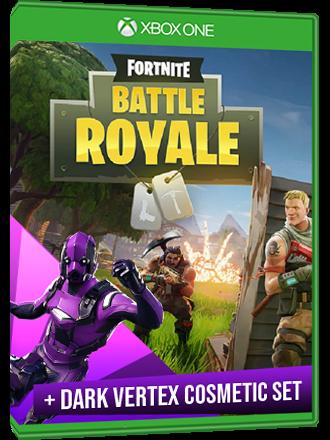 Fortnite Battle Royale Mode + Dark Vertex Cosmetic Set - Xbox One Download  Code