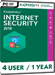Kaspersky Internet Security 2017 (4 Users / 1 Year)