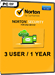 Norton Security (3 Users / 1 Year)