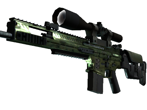 StatTrak™ SCAR-20 | Green Marine (Well-Worn)
