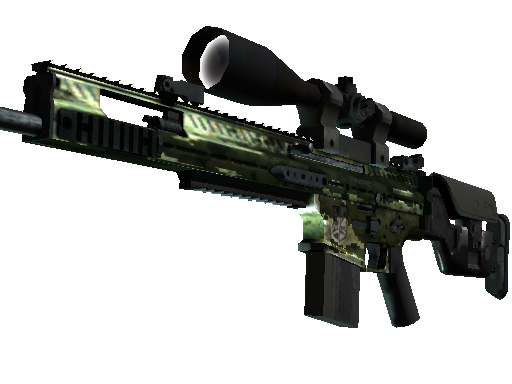 StatTrak™ SCAR-20 | Green Marine (Battle-Scarred)