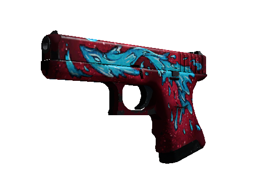 StatTrak™ Glock-18 | Water Elemental (Well-Worn)