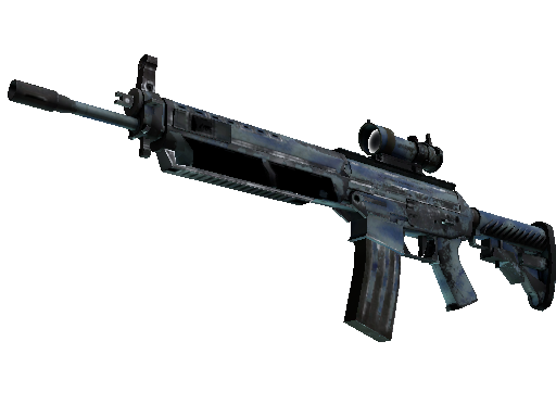 SG 553 | Wave Spray (Battle-Scarred)