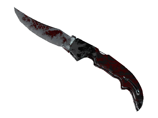 ★ StatTrak™ Falchion Knife | Crimson Web (Battle-Scarred)