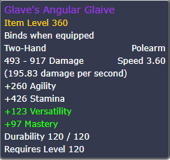 Glave's Angular Glaive: Item Level 360 - FIFA Coins, Buy WoW