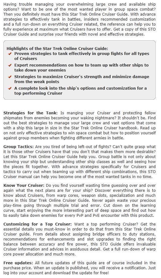 Star Trek Online Cruiser Guide EN