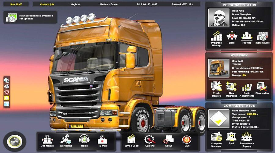 buy euro truck simulator 2 titanium edition mmoga. Black Bedroom Furniture Sets. Home Design Ideas