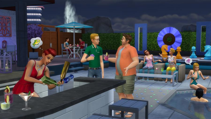The Sims 4 - Spa Day + Luxury Party Stuff + Perfect Patio Stuff Bundle Screenshot 7