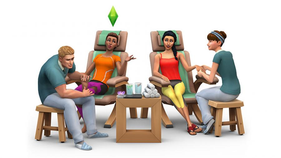 The Sims 4 - Spa Day + Luxury Party Stuff + Perfect Patio Stuff Bundle Screenshot 1