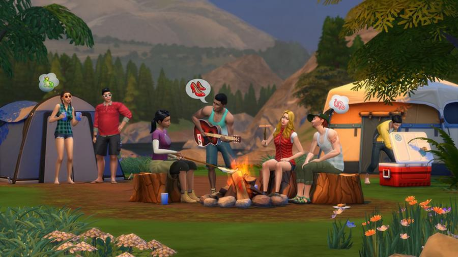 The Sims 4 - Outdoor Retreat + Cool Kitchen Stuff + Spooky Stuff Bundle Screenshot 2