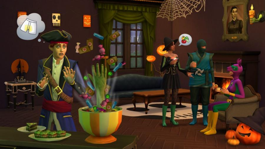 The Sims 4 - Outdoor Retreat + Cool Kitchen Stuff + Spooky Stuff Bundle Screenshot 1