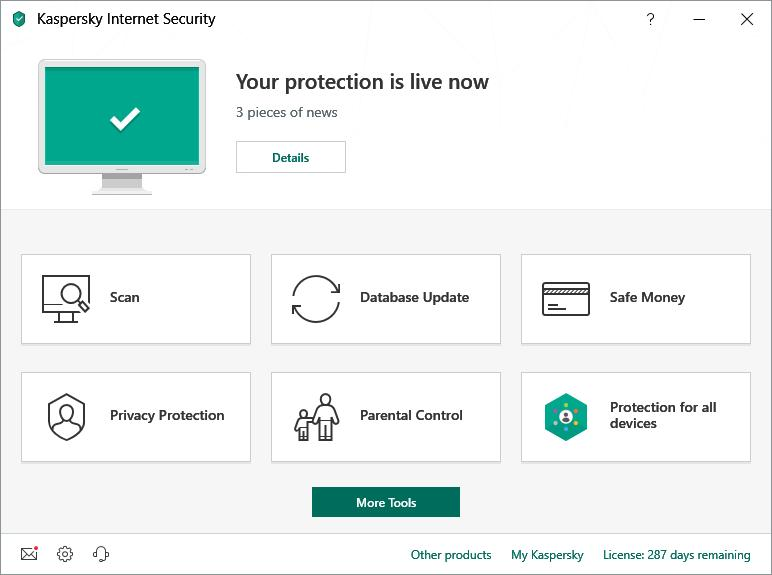 Kaspersky Internet Security Multi-Device 2019 (5 Users / 1 Year) Screenshot 1