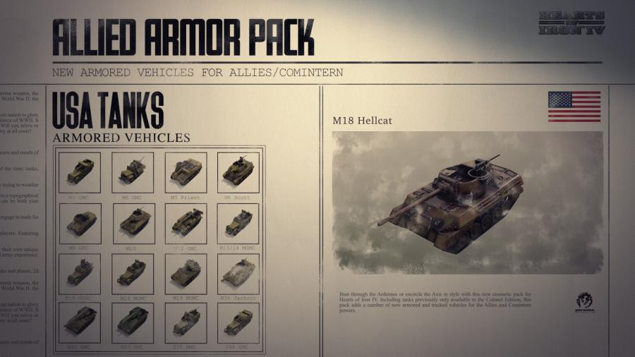 Hearts of Iron IV - Allied Armor Pack (DLC) Screenshot 8