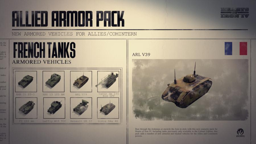 Hearts of Iron IV - Allied Armor Pack (DLC) Screenshot 2